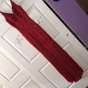 Dresses & Skirts - Red Sequin Prom Dress
